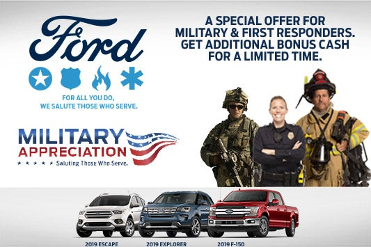 Ford First Responder >> Military First Responder Bonus